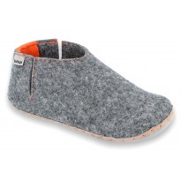 Slippers V-FELT grey-orange 2