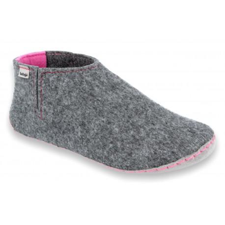 Slippers V-FELT grey-pink 2