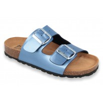 Biox Alex Cork Sandals BLUE METALLIC