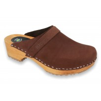 Brown Klogga clogs wooden