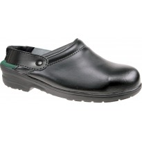 TRAKKER Safety Clogs on PU Bottoms Black 2