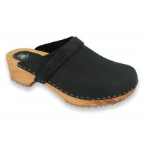 Black Klogga wooden clogs