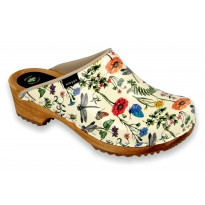 HERBS Patent Leather Wooden Clogs