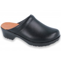 Comfort Flex Clogs PU soles Leather Black