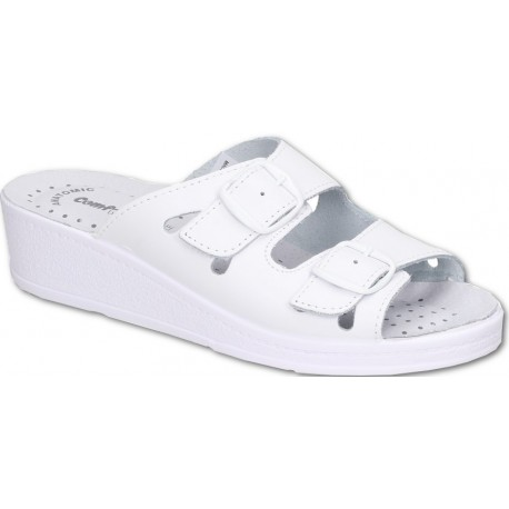 Comfooty Mia White medical clogs