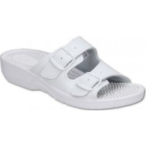 Comfooty Nadia White medical clogs