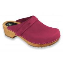 V-Rosa Wooden Clogs Nubuck Pink