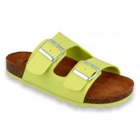 IZZI Biox Alex Lime Medical Cork Slippers lightgreen