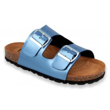 Biox Alex Metallic Blue Sandals