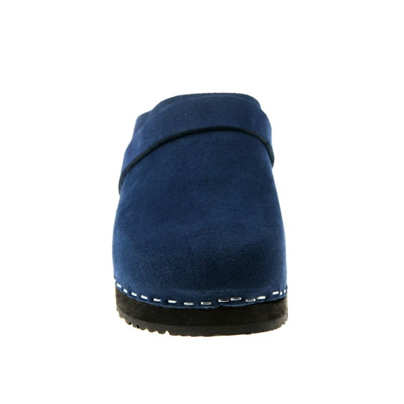 DEEP BLUE wooden clogs from genuine
