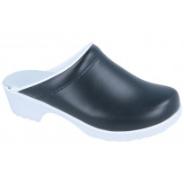 Comfort Flex Clogs PU soles Leather Navy