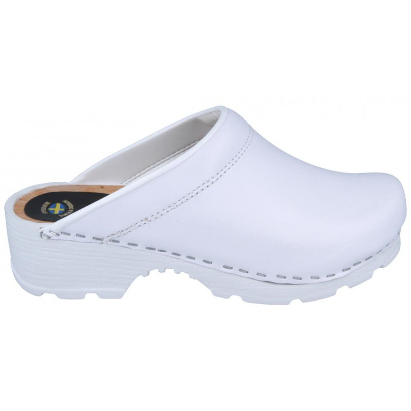 c26eab39b3166b COMFORT Clogs - Quality Clogs PU Soles Wooden Insoles Leather White