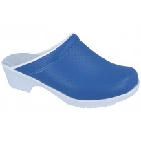 Comfort Flex Clogs PU soles Leather Blue