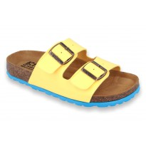 Biox Aston Medical Cork Slippers Yellow