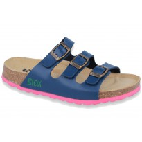Biox Lisbon Medical Cork Slippers Dark Blue
