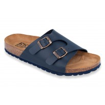 Biox Toulouse Medical Cork Slippers Navy