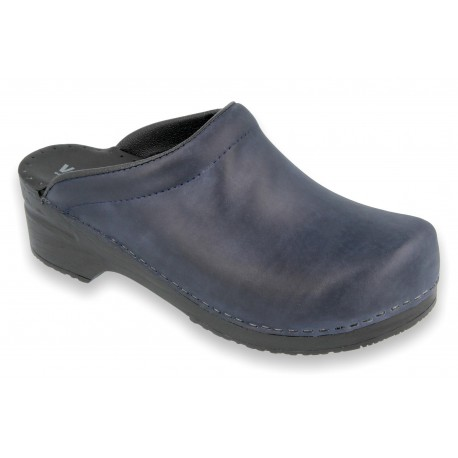 SoftClogs PU soles oiled leather navy