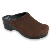 SoftClogs PU soles oiled leather dark brown