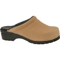 SoftClogs TINA PU soles oiled leather light beige