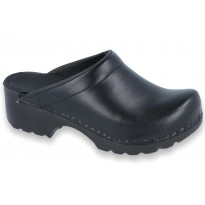 SoftClogs PU soles leather black