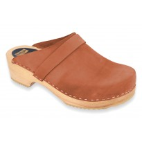 V-Camel Wooden Clogs Nubuck Light Brown