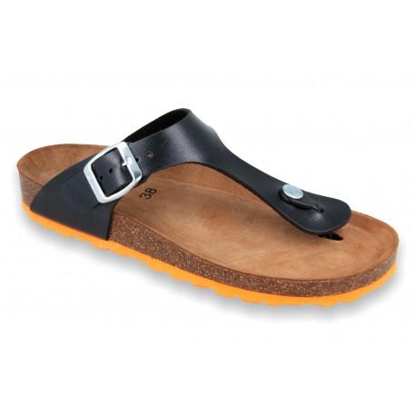Biox Aston Medical Cork Slippers Black