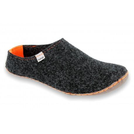 Slippers V-FELT black-orange